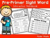 Pre-Primer Sight Word Notebook
