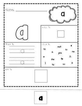 Pre-Primer Print & Go Sight Word Pack