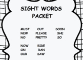 Pre-Primer Sight Word Packet 2