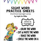 Pre-Primer Sight Word Packet #spedgivesthanks