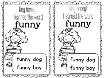 Sight Word Parent Notes