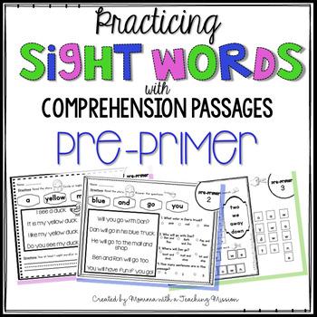 Pre-Primer Sight Word Passages