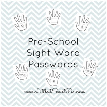 Pre-Primer Sight Word Passwords
