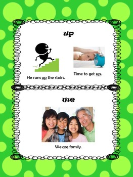 Pre Primer Sight Word Picture Book (shows multiple meanings!)