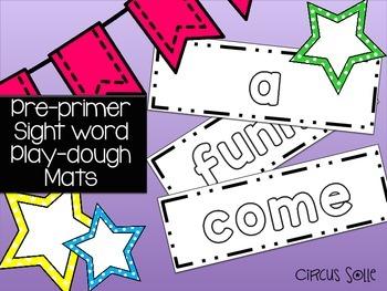 Pre-Primer Sight Word Play Dough Mats
