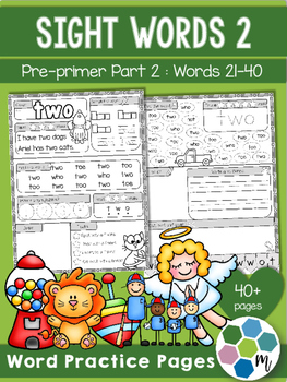 Pre-Primer Sight Word Practice 2