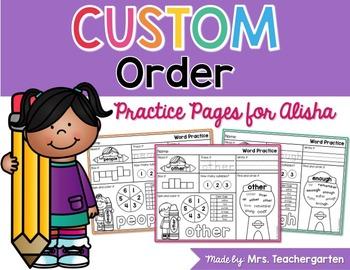 Custom Order for Alisha