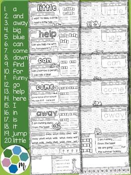 Pre-Primer Sight Word Practice 1
