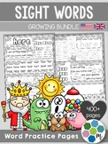 Sight Word Practice Pages GROWING BUNDLE