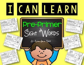 Pre-Primer Sight Word Practice Pages {No Prep}