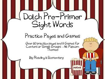 Pre-Primer Sight Word Practice Pages (over 80!) and Games