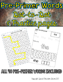 Pre-Primer Sight Word Practice Sheets: Dot to Dot and Stamp It sheets