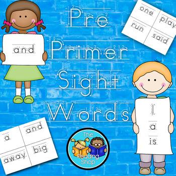 Pre Primer Sight Words - Handwriting