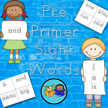 Pre Primer Sight Words - Handwriting