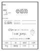 Pre-Primer Sight Word Practice Worksheets