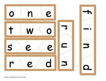 Pre Primer Sight Word Puzzles