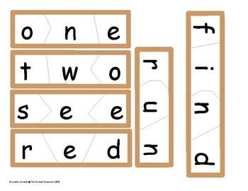Pre Primer Sight Word Puzzles