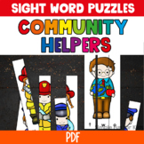 Pre-Primer Sight Word Puzzles Community Helpers