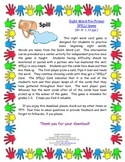 Pre-Primer Sight Word SPILL! Game (K-2, 13 pgs.)