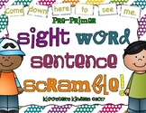 Pre-Primer Sight Word Sentence Scramble - Literacy Center / Literacy Station