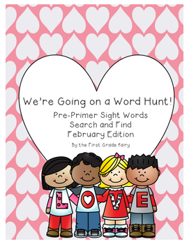 Pre-Primer Sight Word Search and Find ** Valentine's Day Edition