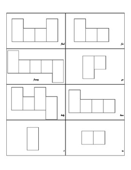 Pre-Primer Sight Word Shape Boxes