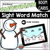 Pre Primer Sight Word Snowman Matching Game | BOOM Deck