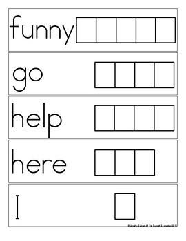 Pre Primer Sight Word Spelling Cards