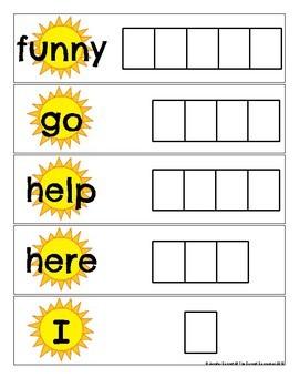 Pre Primer Sight Word Spelling Cards for Summer
