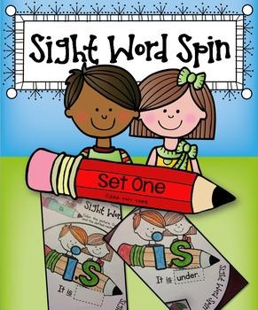 Pre-Primer Sight Word Spinners - Set 1 Ten Word Wheels