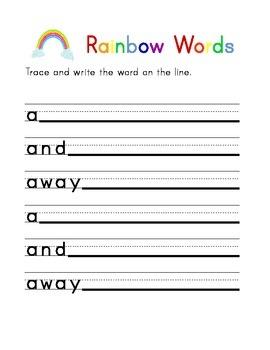 Dolch Pre-Primer Sight Word Workbook