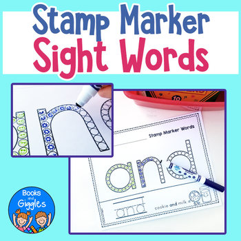 Pre-Primer Sight Word Worksheets for Stamp Markers