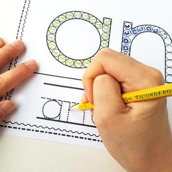 Pre-Primer Sight Word Worksheets for Stamp Markers