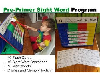 Pre-Primer Sight Word Year long Program Pack