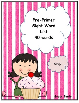 Pre-Primer Sight Words