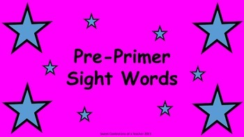 Pre-Primer Sight Words and Assessment