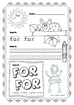 Pre-Primer Sight Words Activities - Spring Themed