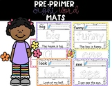 Pre Primer Sight Words Activity Mats