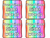 Interactive Dolch Pre-Primer Sight Words Booklet (Complete Set!)