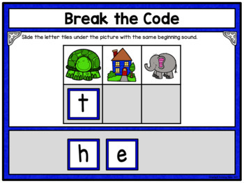Pre-Primer Sight Words Break the Code Activity for Google Drive
