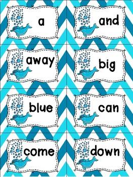 Pre-Primer Sight Words Cards - Summer Themed