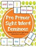 Pre Primer Sight Words Dominoes