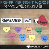 Pre-Primer Sight Words - Heart Word Wall