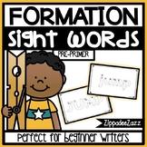 Pre-Primer Sight Words Letter Formation Center