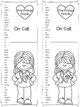 Sight Word Literacy Centers (Tender Loving Corrections) Pre Primer