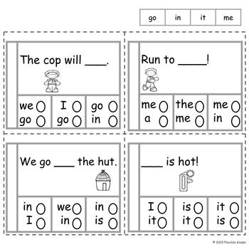 Pre-Primer Sight Words - Mixed Practice