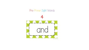 Pre-Primer Sight Words OSMO