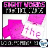 Pre-Primer Sight Words Cards