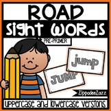 Pre-Primer Sight Words Road Letters Center