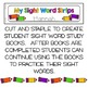 Sight Words Strips - Pre-Primer Words:  Make A Sight Word Practice Book